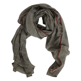 Picture of Parero/scarf Rachel, grey/red