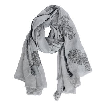 Picture of Parero/scarf Rachel, lt grey