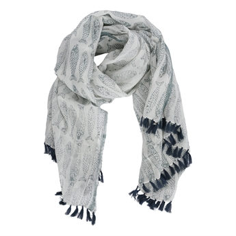 Picture of Parero/scarf Joanna, grey/white