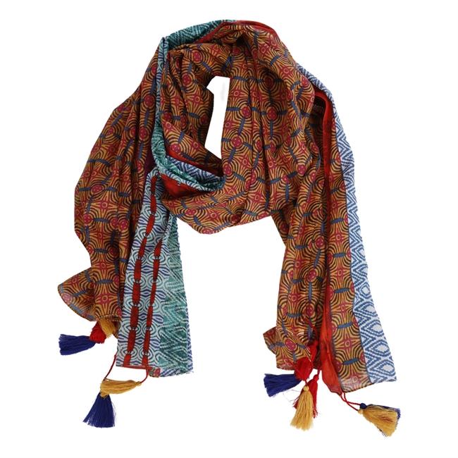 Picture of Parero/scarf Mariah, orange/mint