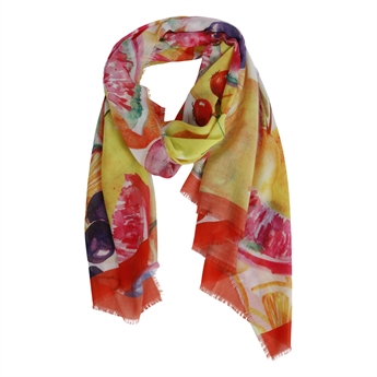 Picture of Scarf Scarlett, yellow/red mix