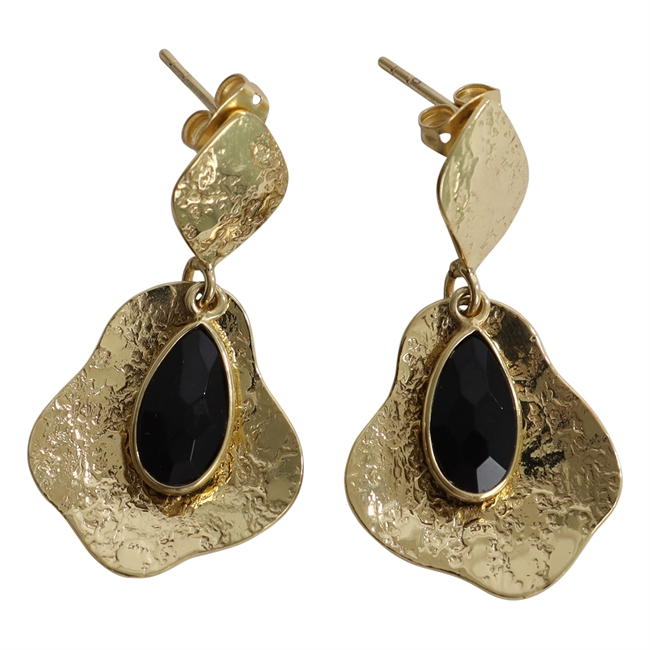 Picture of Earring Ally, gold plating/black onyx