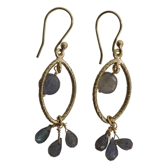 Picture of Earring Amira, gold plating/labradorite