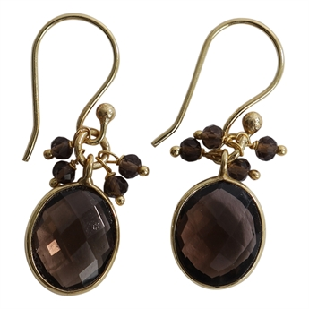 Picture of Earring Kelly, gold plating/smoky