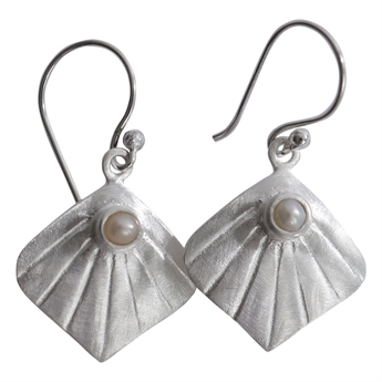 Picture of Earring Lea, silver plating/pearl