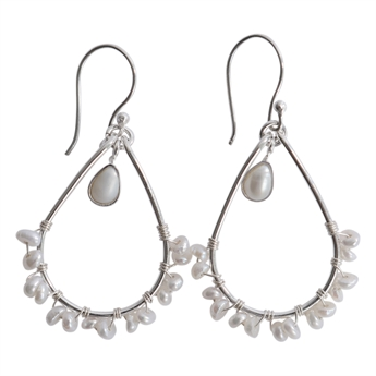 Picture of Earring Ray, silver plating/pearl