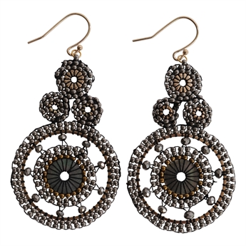 Picture of Earring Grace, grey