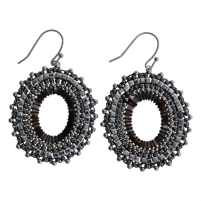 Picture of Earring Abigail, grey