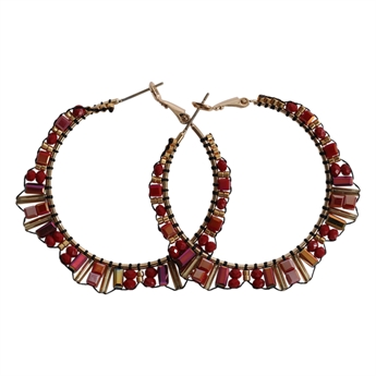 Picture of Earring Nova, red