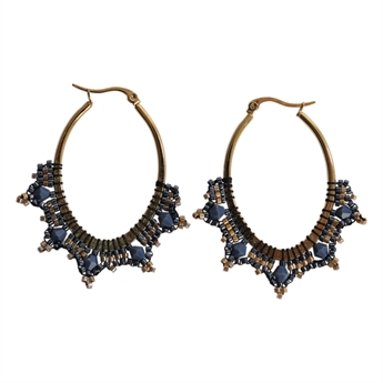 Picture of Earring Mia, blue/gold