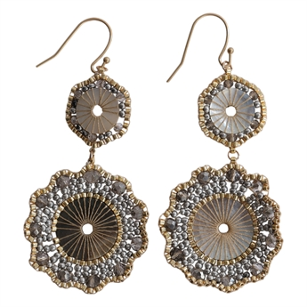Picture of Earring Alina, grey/gold