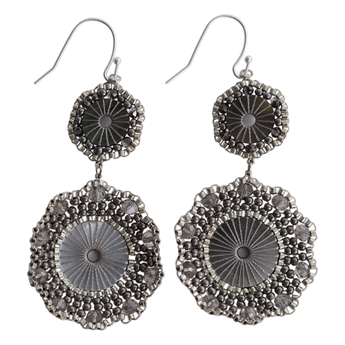 Picture of Earring Alina, grey/silver