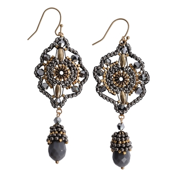 Picture of Earring Nora, grey