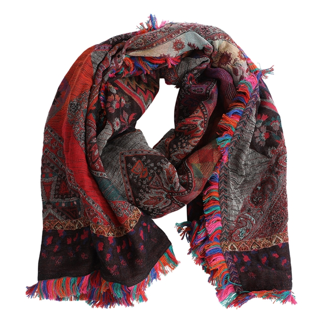 Picture of Scarf Mia, red mix