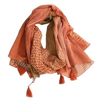 Picture of Parero/scarf Juni, dk orange