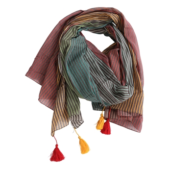 Picture of Parero/scarf Flora, grey/multi mix