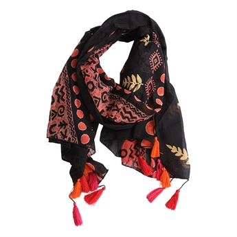 Picture of Parero/scarf Freja, black mix