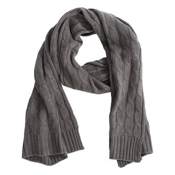 Picture of Scarf Fiona, dk grey