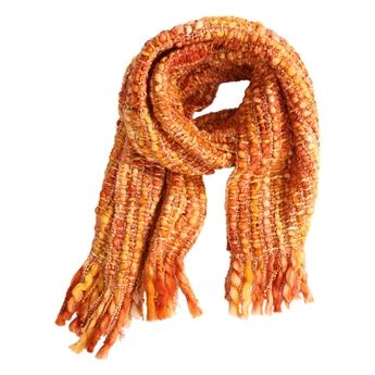 Picture of Scarf Star, orange w golden lurex