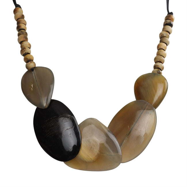 Picture of Necklace Piper, natural/black