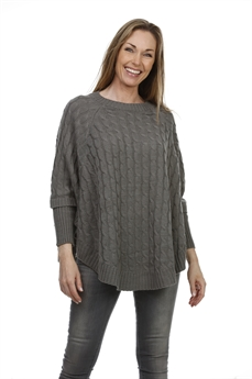 Picture of Poncho Fiona, dk grey