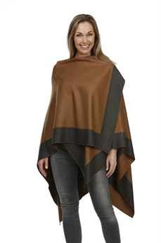 Picture of Poncho Davos, brown/grey