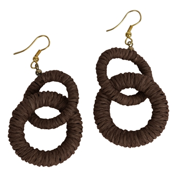 Picture of Earring Abigail, brown